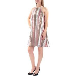 Holiday, party Sequin halter Shift Dress